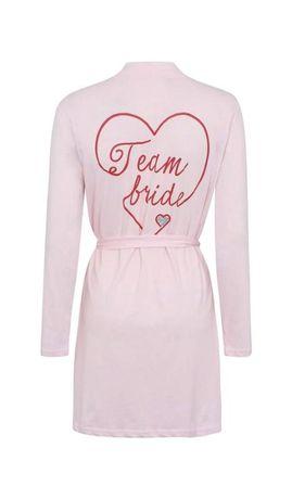 Розовый халат для дружки, подружки невесты, на девичник для фотосессии