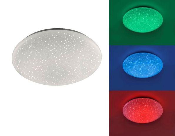 Prosty biały plafon Skyler RGB LED 1650 lumenów Leuchten Direkt 14242