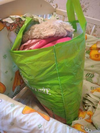 Большой пакет вещей на девочку от 0-2год+игрушки