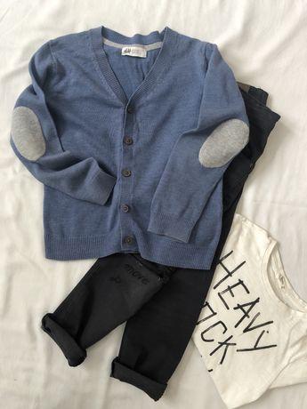 Kardigan sweterek rozponany H&M 110 116