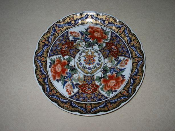 "Prato Porcelana Japonesa e Chinesa ""Mil Flores"""