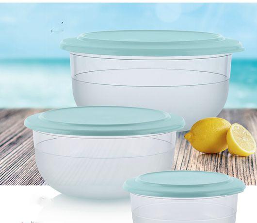 Tupperware conjunto saladeiras crystal