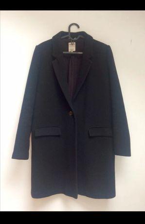 Płaszczyk czarny Zara 36 S Płaszcz