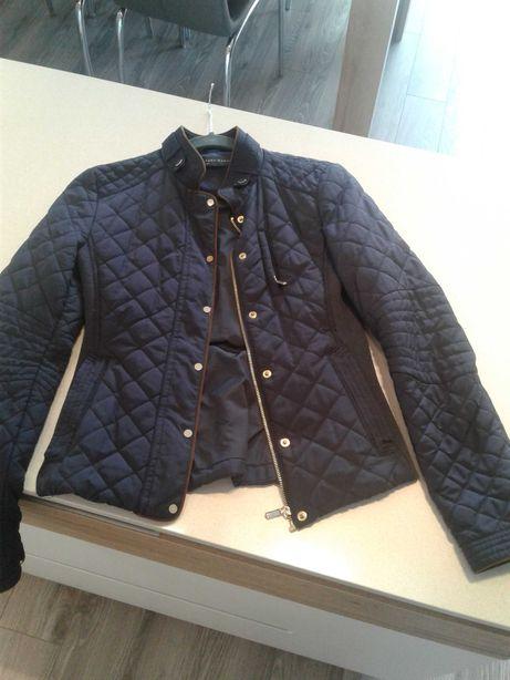 Granatowa pikowana kurtka na wiosne Zara r Xs