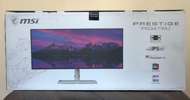"""Nowy Monitor MSI 34"""" Prestige PS341WU 5K 21:9 34 cale"""