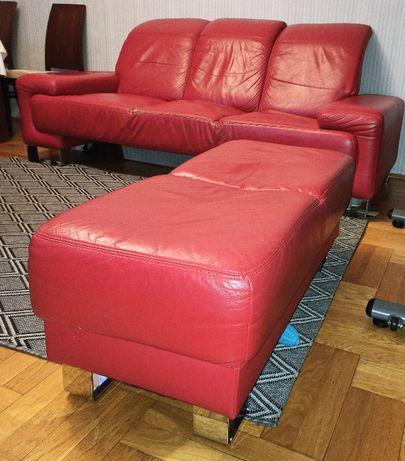 Komplet wypoczynkowy sofa puf BFM