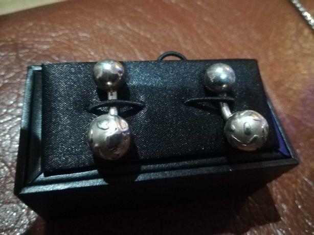 Spinki do mankietów srebrne 925