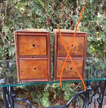 Antyk stare szuflady z maszyny do szycia