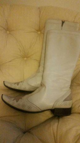 Buty oficerki skórzane