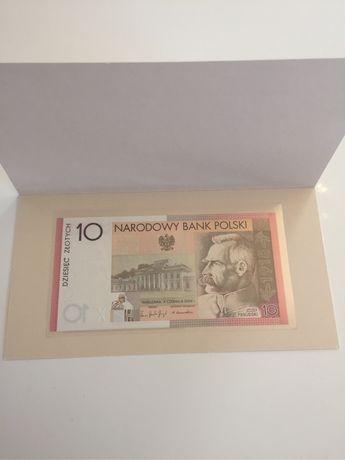 Banknot kolekcjonerski 10 zł niepodległości NISKI numer