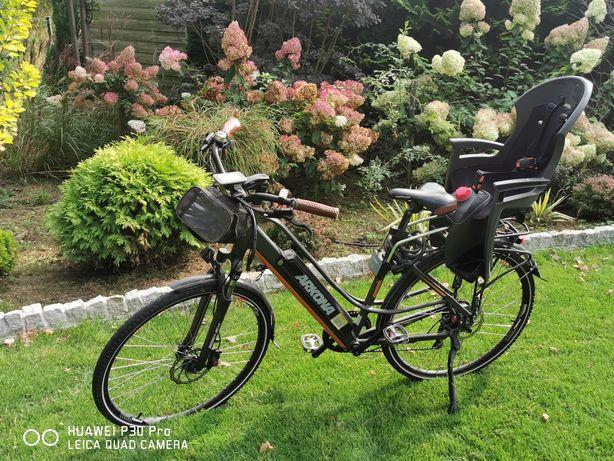 Fotelik rowerowy dla dziecka Hamax Siesta do 23kg komplet