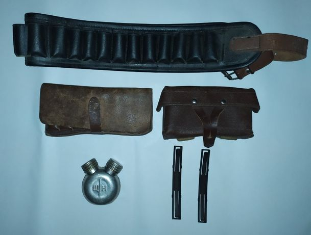 Патронташ (охотничий набор, кожа)