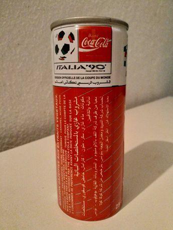 Lata de coleção de Coca-Cola, Mundial Futebol, Itália 90 - Tunísia