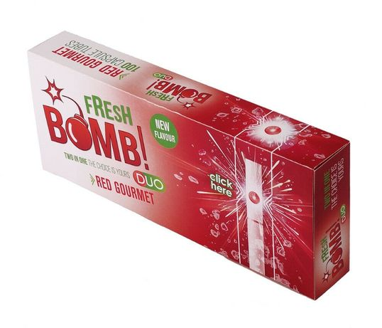 Fresh Bomb Tubes With Red Gourmet Capsule - 5 Boxes (500 tubes)