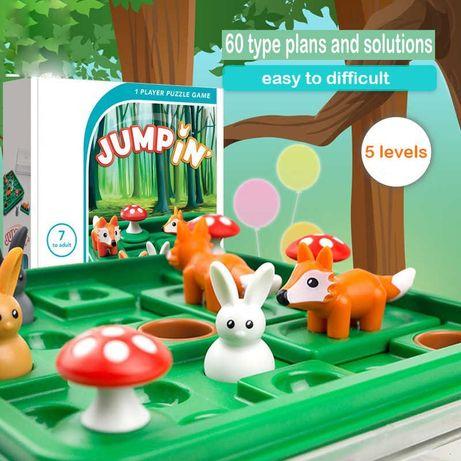 Настольная логическая игра «Кролик, в домик» Зайцы и норки, от 6-7 лет