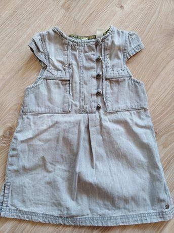 Sukienka jeansowa dla dziewczynki 92