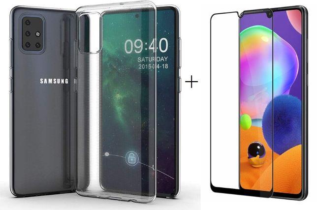 чехол бампер + 5D защитное стекло Samsung M11 M31 A11 A21s A31 A51 A71