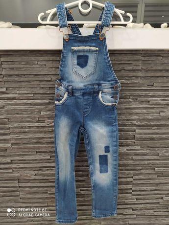 Ogrodniczki jeans dziewczęce r. 104 cm