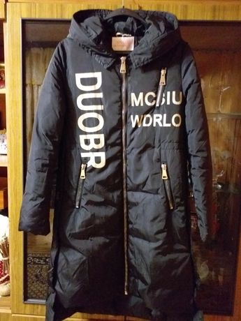 Куртка пальто чёрного цвета