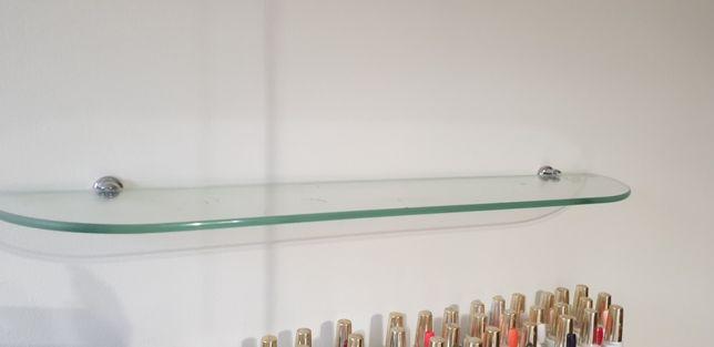 Półki szklane na lakiery ozdoby dekoracja 4 szt