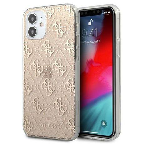 Capa Traseira Guess Glitter Iphone 12 Mini - Dourado