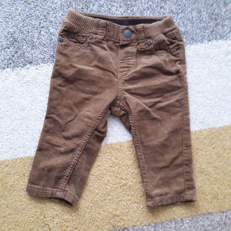 H&M 68 spodnie Sztruksowe niemowlęce