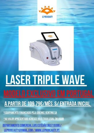 Laser tripla onda EXCLUSIVO PORTUGAL (Alexandrite Diodo NdYag) + Curso