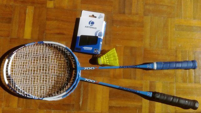 Raquetes badminton, como novas! Ver descrição