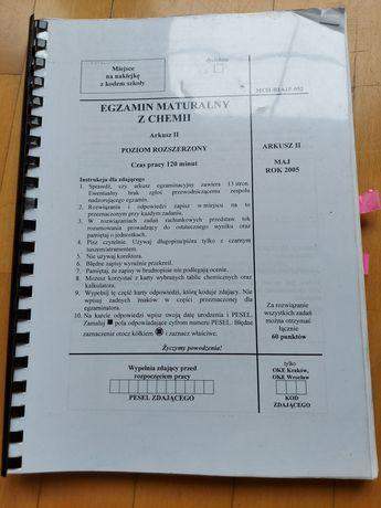 Matury z chemii i biologii oraz maturalne karty pracy