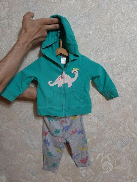 Легкий хлопковый костюм картерс на девочку 9м детский костюм carters