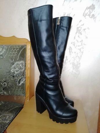АКЦІЯ!!! Зимові шкіряні чобітки 36р.