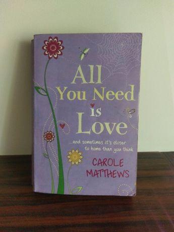 literatura angielska! all you need is love Carole Matthews ksiazka 404