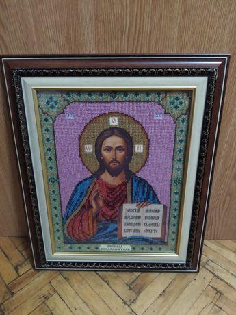 """Икона """"Исус Христос"""" чесский бисер"""