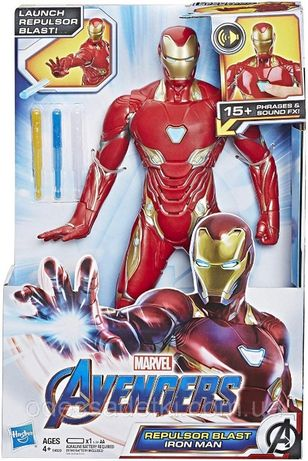 Железный человек, интерактивный 30 см, звук Marvel Avengers End