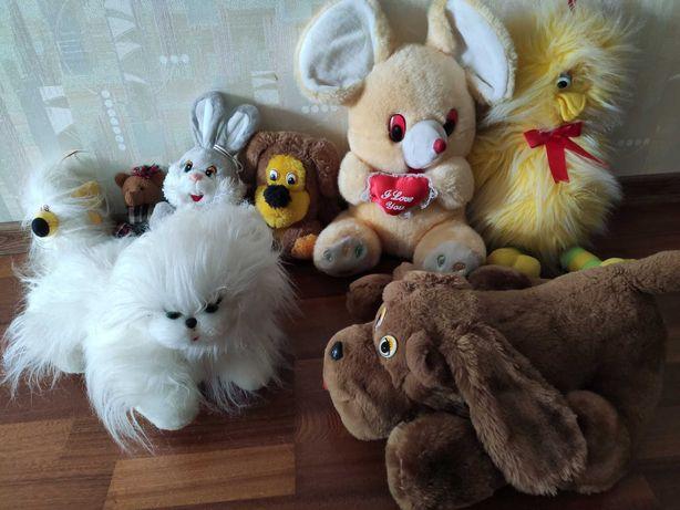 Мягкие игрушки разные, 8 шт.
