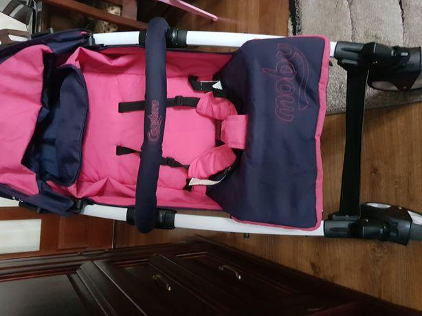Wózek spacerowy Caretero Moby (pokrowiec na nóżki+folia przeciwdeszcz.
