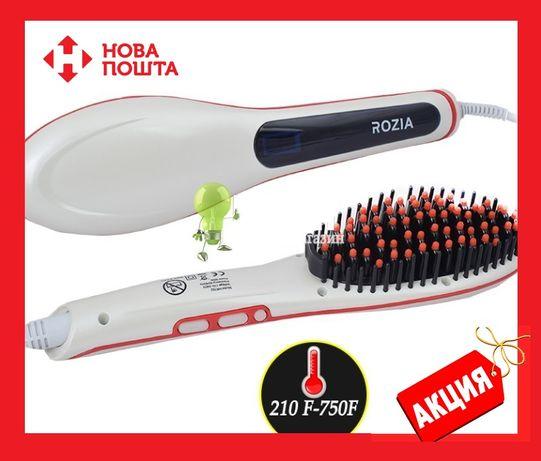 Расческа выпрямитель Rozia HR-762 горячая расческа высокого качества