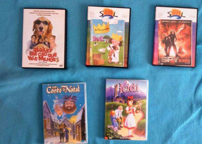 Conjunto de DVD's infantis