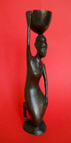 Винтажная статуэтка из черного дерева