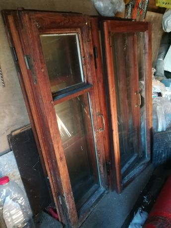 Окна деревянные б.у с петлями