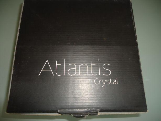 conjunto 4 copos vista alegre atlantis crystal novos e em caixa