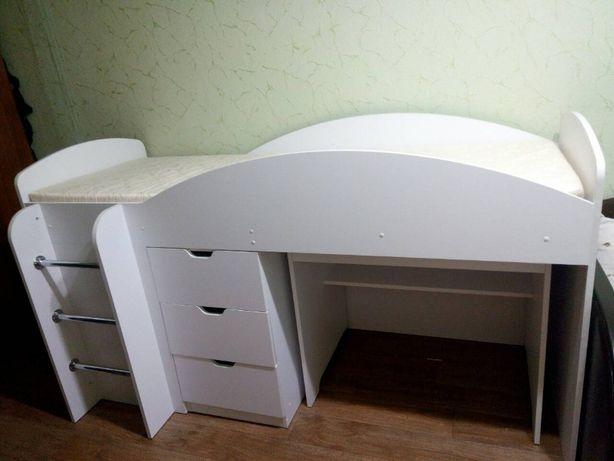 Детская Кровать 70*190 Универсал + Шкаф + Ящики + Стол!