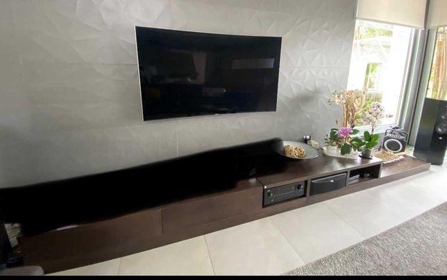 Móvel TV com gavetas cor Wengué