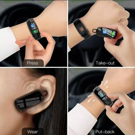 Smart Call Watch + fone de ouvido removível