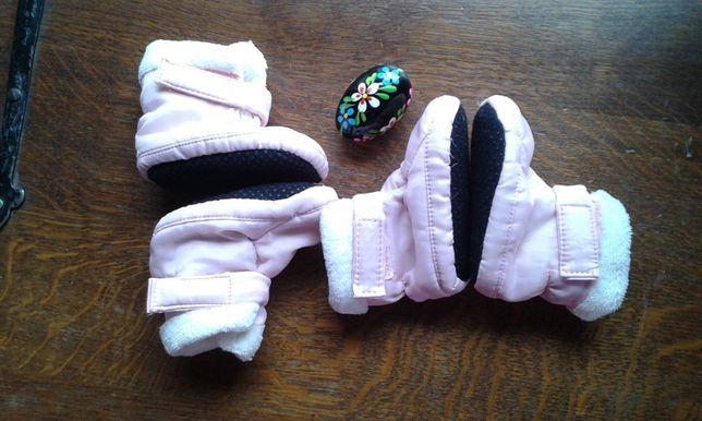 buciki niechodki z futerkiem