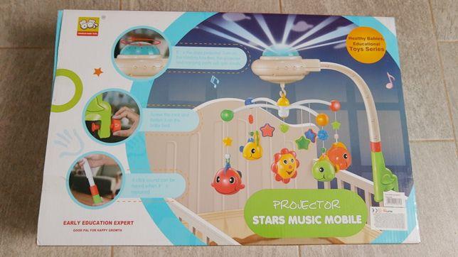 projektor stars music mobile do łóżeczka dziecięcego