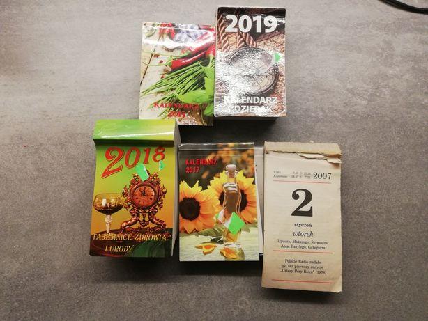 Kartka z kalendarza, rok 2007, 2015, 2017, 2018, 2019