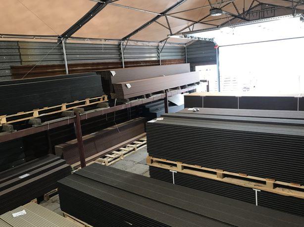 Deski kompozytowe, skład fabryczny, dystrybucja. 21zl mb, 145zl m2