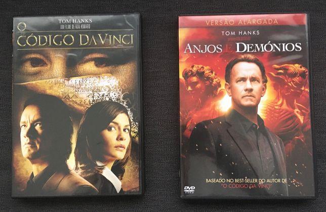 2xDVD O Código Da Vinci & Anjos e Demónios (Ed. PT) - portes incluídos