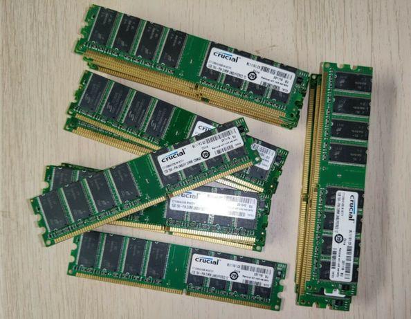 Оперативная память DDR1 1GB 333/400mhz 2700U/3200U Intel/Amd